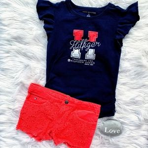 Hilfiger Shirt and Shorts Matching Set Girls 6x